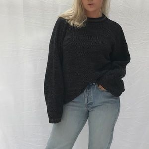 Vintage oversized knit sweater